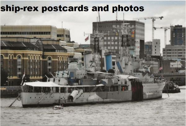 BELFAST (Royal Navy) in the Pool Of London, photo (b)